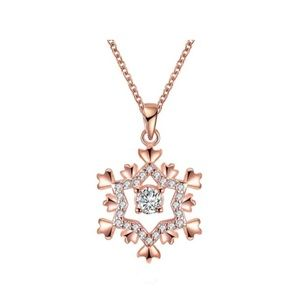 NWT Swarovski 14k Gold-Plated Snowflake Necklace
